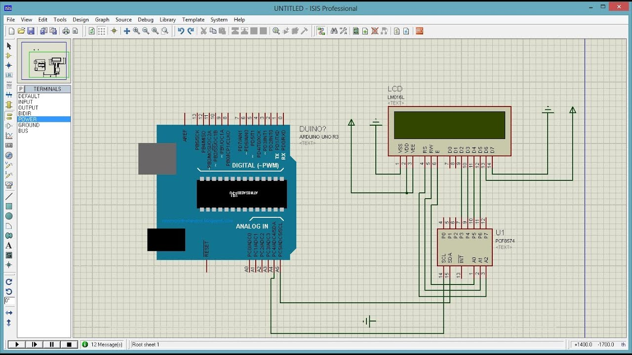 Proteus Isis And Arduino Uno Arduino Uno Simulator Youtube