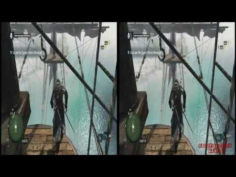 YT3D - Assassins Creed IV 3D: Black Flag Very High Settings S6M2 Walkthrough Live Stream Part 11
