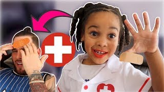 Doctor Girl Saves Daddy Kids Pretend Play