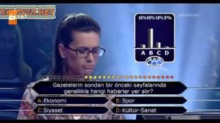 Kim Milyoner Olmak Ister 258. bölüm Sibel Artan 11.09.2013