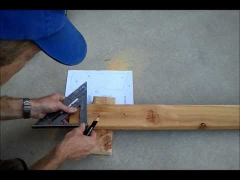 Cutting A Storage Shed Roof Rafter Birdsmouth Wmv Youtube