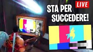 FORTNITE: STA PER SUCCEDERE! ALLARME COMETA in TV nella MAPPA! (LIVE)