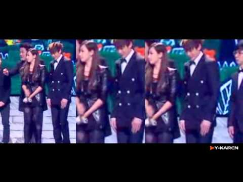 101229 NichKhun Victoria at MBC Entertainment Awards