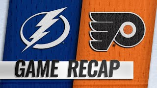 Lightning hang on to beat Flyers in OT, 6-5