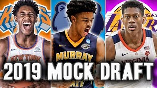 The Official 2019 NBA Mock Draft