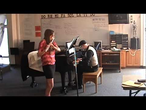 Me accompanying Carly Hines at the Valhalla High School solo ensemble fest