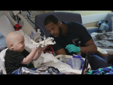 Although KJ Upshaw's official job title at Cincinnati Children's is floor tech in Environmental Services, he refers to himself simply as the housekeeper. For two little boys in the medical center's Bone Marrow Transplant unit, KJ is much more. He's a cherished friend who helped make their lives in the hospital brighter and more fulfilling.