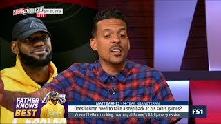 SPEAK for YOURSELF | Matt Barnes DEBATE: Does Lakers' LeBron need to take step back at son's games?