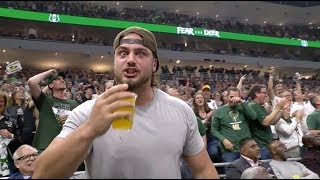 Aaron Rodgers And Company Put On A Beer Chug Competition And The Crowd Went Crazy
