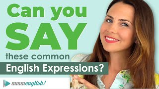 How To Say Common English Expressions! 💬 PART 2: Small Talk