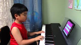 """6-year-old Renzo plays """"Counting Stars"""" by One Republic with Simply Piano"""