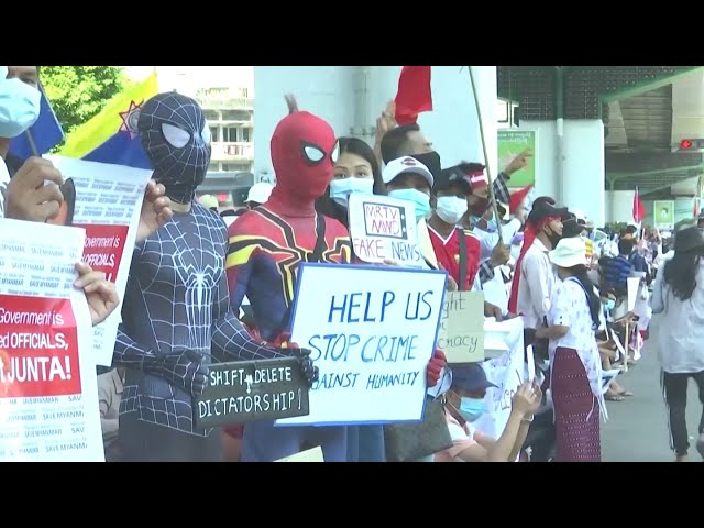 Z世代主導緬甸示威 吸引全球關注