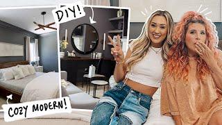 Bye BOHO! LaurDIY's Extreme Bedroom Makeover! (*DIY* vanity, dog crate and art)
