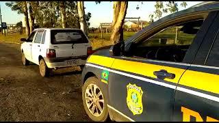PRF recupera na BR-392, em Rio Grande, carro furtado da Prefeitura de Mostardas