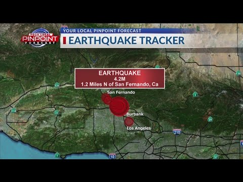 Magnitude 4.2 earthquake strikes near San Fernando