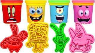 Play-Doh SpongeBob SquarePants Molds & Surprise Eggs, Learn Colors, Nursery rhymes