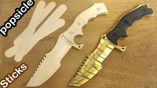 How to make CSGO Huntsman knife from popsicle sticks