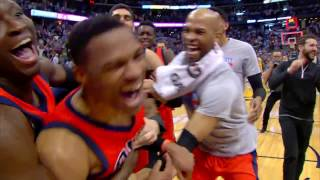 Russell Westbrook NBA RECORD 42ND TRIPLE DOUBLE Full Game Highlights   April 9, 2017