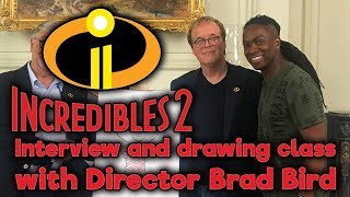 Incredibles 2 Interview and Jack Jack Drawing Class with Director Brad Bird