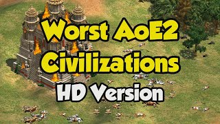 The 5 Worst Civilizations in AoE2