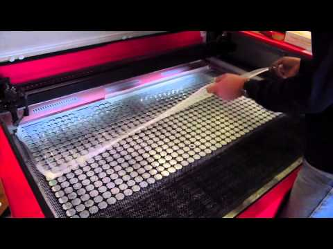 Laser Cutting Plastics and Rubber at the Howard J. Moore Company Inc.
