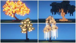 Custom Glowing Tree Designs   Minecraft Tutorial