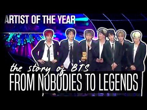 BTS // FROM NOBODIES TO LEGENDS 2013- DEC 2017