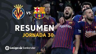 Resumen de Villarreal CF vs FC Barcelona (4-4)