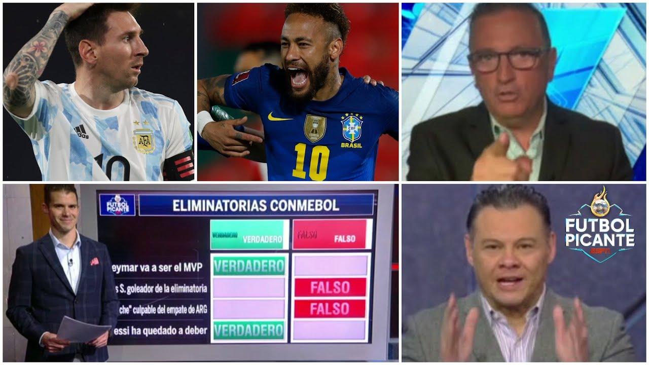 ELIMINATORIAS CONMEBOL. ¿Neymar, el MVP? ¿Messi ha quedado a deber en Argentina? | Futbol Picante