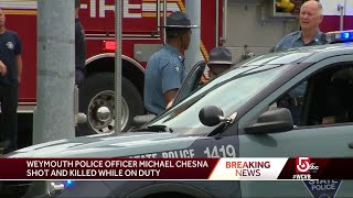 Weymouth police officer shot, killed in the line of duty