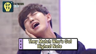 [Oppa Thinking - Wanna One] They Matches Who's Got Highest Note 20170911