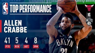 Allen Crabbe Drops 41 POINTS On His 26th Birthday