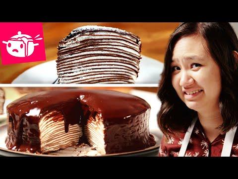 I Tried To Make This Chocolate Crepe Cake
