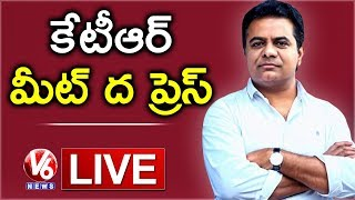 LIVE: TRS working president, KTR press meet at Somajiguda..