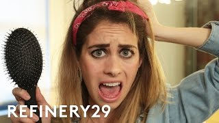 2 Weeks Of Not Washing My Hair Challenge | Try Living With Lucie | Refinery29