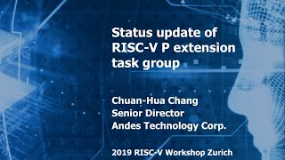 Status Update of RISC-V P Extension Task Group