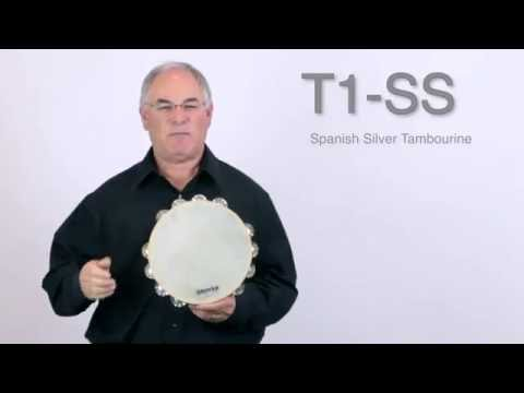 Grover Pro Spanish Silver Tambourine