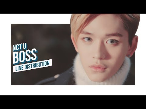 NCT U - BOSS Line Distribution (Color Coded) | 엔시티 유 - 보스