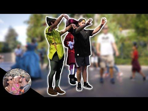 PETER PAN TURNS DAD INTO CINDERELLA'S STEP SISTER!! *SO EMBARRASSING* | Disneyland vlog #126