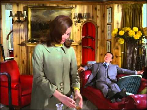 Youtube video - Mr Peel drops round to see Steed who stumbles down his stairs. She breaks in and he gasps, 'Mrs Peel, you're needed'