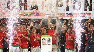 Selebrasi INDONESIA JUARA Piala AFF U19 (Angkat Piala
