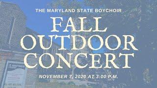 Maryland State Boychoir - Outdoor Fall Concert 2020