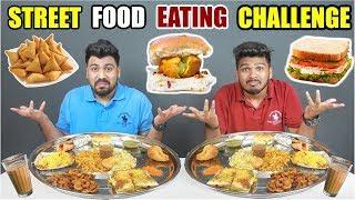 STREET FOOD EATING CHALLENGE | MUMBAI STREET FOOD EATING CHALLENGE | Food Challenge India (Ep-102)