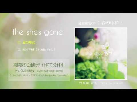 the shes gone 通販限定CD「春の中に」ティーザー
