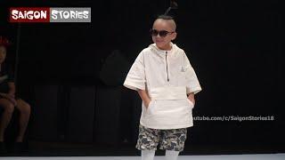 Bé Nhím gây sốt với màn catwalk nhào lộn cực chất tại Vietnam Junior Fashion Week