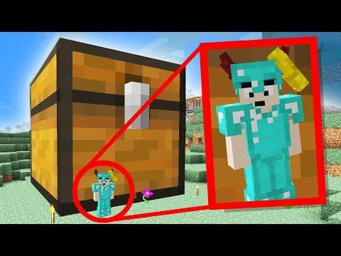 i built the world's BIGGEST Minecraft Chest