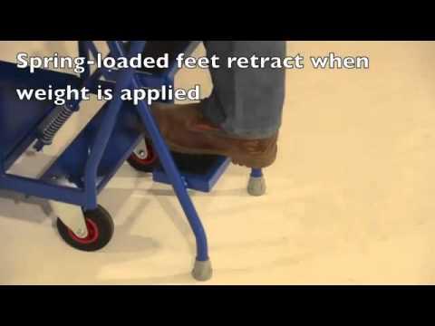 British 5 Step Heavy Duty Step Tray Trolley