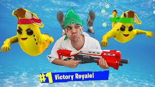 Lil Moco Playing FORTNITE Underwater for 24 HOURS.... *Epic Challenge*