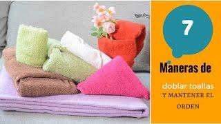 7 formas de doblar las toallas