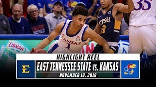 East Tennessee State vs. No. 4 Kansas Basketball Highlights (2019-20) | Stadium